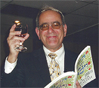Dr. Block at the congregation's annual Seder.