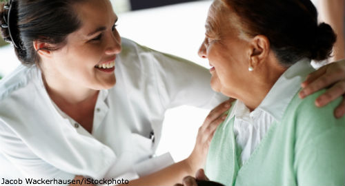 NursePatient_Slider2_JacobWackerhausen_iStockphoto
