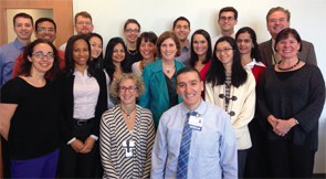 Dr. Von Feldt with fellows and faculty mentees at the University of Pennsylvania.