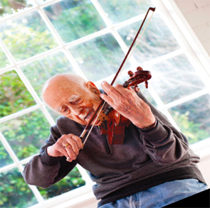 Dr. Engleman played the violin from the age of 2 throughout his life.