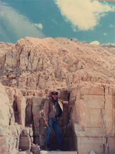 Dr. Molina on a dig in western Wyoming near the Green River Formation.