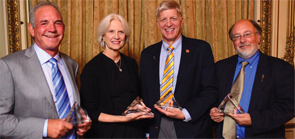 from left: Norman B. Gaylis, MD, Mary K. Crow, MD, James O'Dell, MD, and David Daikh, MD, at the 2015 Donors of Merit recognition event.