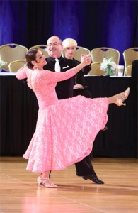 Dr. and Mrs. Miller dance the waltz at the February 2015 New York Dance Festival.