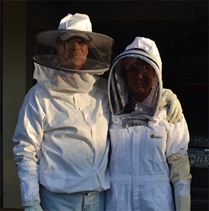 Dr. Ritchlin and his daughter, Christina, who shares his love of beekeeping.