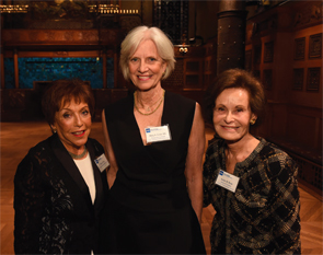 "Mary ""Peggy"" Crow, MD, chief of the Division of Rheumatology at HSS with Renee Flug (left) and Susan W. Rose, who serve as co-chairs for HSS's Rheumatology Council."