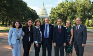 From left: ARHP President Elizabeth A. Schlenk, PhD, RN; ACR/Foundation Treasurer Paula Marchetta, MD, MBA; ACR President Joan M. Von Feldt, MD, MSEd; ACR/Foundation Secretary David I. Daikh, MD, PhD; ACR President-Elect Sharad Lakhanpal, MBBS, MD; Foundation Vice-President Abby G. Abelson, MD; and Foundation President Eric L. Matteson, MD, visited Washington, D.C., in September, where they met with members of Congress to inform them of issues of importance to ACR members.