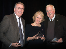 Honorary Board of Advisor inductees from left: Dr.Cohen, Mrs. Malawista and Dr.Weaver. They were honored for their leadership and extraordinary support for rheumatology research and training.