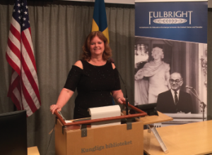 Dr. Maura Iversen was honored in a recognition ceremony at the Kunglia Biblioteket (the National Library of Sweden).