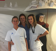 Dr. Maura Iversen and colleagues at the Astrid Lindgren Children's Hospital in Stockholm.