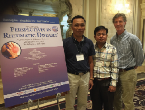 Dr. Khun (far left) attended a continuing medical education program on rheumatology this fall in Las Vegas.