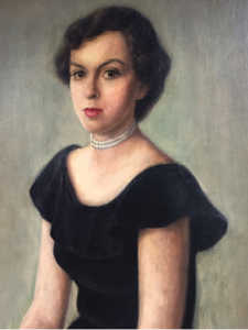 This painting of Barbara Volcker was a gift from her husband, Paul, and hangs in a place of honor at the Center.