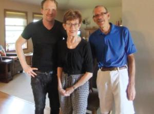 Sarah Troxell, her son, John, and husband, Gary