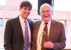 Father and son: Harry Spiera, MD (right), with Robert Spiera, MD (left)