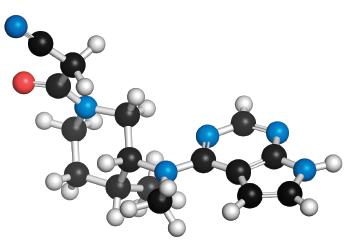 Tofacitinib, a rheumatoid arthritis drug.