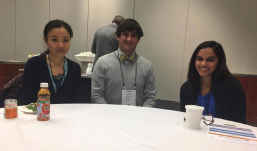 Student Resident Experience attendees Bingyan Wang, Marc Sonnier and Jacqueline Kannan.