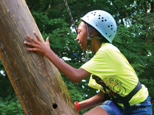 Campers increase their confidence and self-esteem by experiencing new activities.