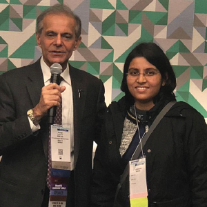 Dr. Sinha with Dr. Lakhanpal (left) at the IRA Reception during the 2018 ACR/ARHP Annual Meeting.