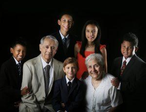 Dr. Luis R. Espinoza with his grandchildren.