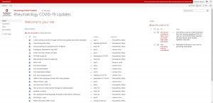 OSUWMC's Rheumatology COVID-19 Updates homepage.