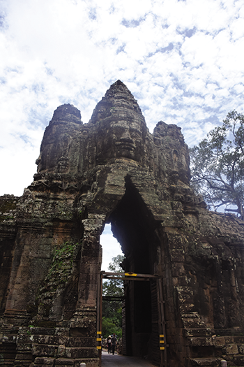 South gate tower of Bayon Temple, Angkor Thom, Cambodia.