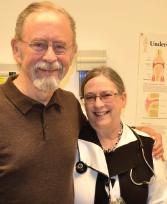 Dr. Allen with David S. Caldwell, MD, in the rheumatology clinic this year.