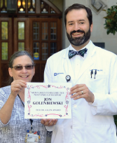 Dr. Allen presented Duke fellow Jon Golenbiewski, DO, now on faculty at Wake Forest Baptist, Winston-Salem, N.C., with the Dr. Allen Award for the Most Likely to Become the Next Vasculitis Expert in 2019.