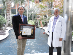 Jim Oates, MD (left), is the inaugural recipient of the Richard M. Silver, MD, MACR (right), endowed chair in rheumatology at MUSC.