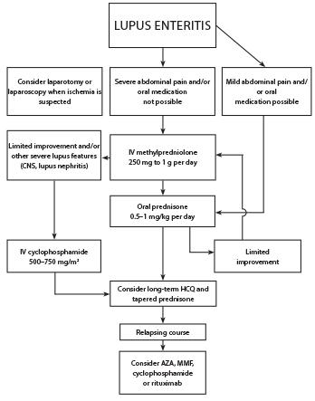 Figure 4: Proposed Treatment Algorithm for SLE Patients with Lupus Enteritis3