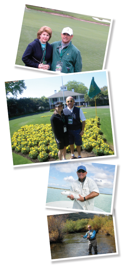 Dr. Kassan and his wife, Gail, standing in the Amen Corner at the Masters Tournament in 2003.