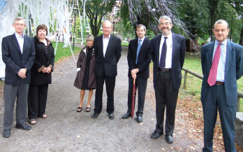 Speakers at the 2011 Cutting Edge Rheumatology meeting in Lund, from left: Bruce and Sally Richardson, Ann Arbor, Mich.; David and Sue Eyre, Seattle; Thomas Krieg, Cologne, Germany; Dan Kastner, NIH; John Isaacs, Newcastle, U.K.