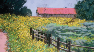 Frenchy's Field Park, Spring in Santa Fe, New Mexico (oil) by Ralph C. Williams Jr.