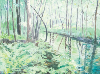 Florida Woods, Gator Country (oil) by Ralph C. Williams Jr.