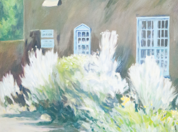 Adobe on Alameda, with Sage (oil), by Ralph C. Williams Jr.