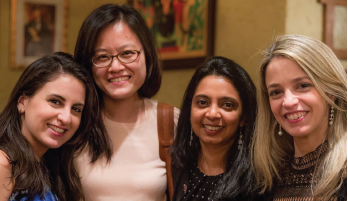 From left: Monica Crespo-Bosque, MD (now faculty at BUSM); MaryAnn Zhang, MD (now faculty at Columbia University); Dr. Neogi; and Ana Vargas Dos Santos, MD, PhD (now faculty at Universidade Estado do Rio de Janeiro, Brazil).