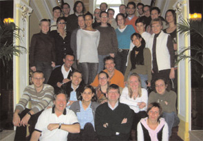 Dr. Smolen (bottom left, white shirt) with his rheumatology colleagues at a recent retreat.