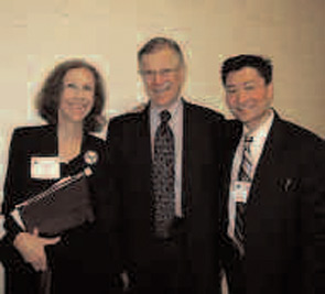 (Left to right) Pamela E. Prete, MD; Rep. Pete Stark; and Steve Lee, DO
