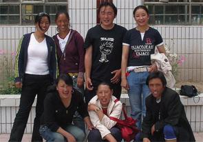 Back: Yangdzom, Tsotse, Peter, and Betyi. Front: Sonam, Dromi, and Sean. Not pictured: Tenpa, Jigme, Tse Chu.