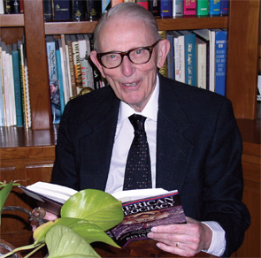 Dr. Sharp at his home on Bainbridge Island.