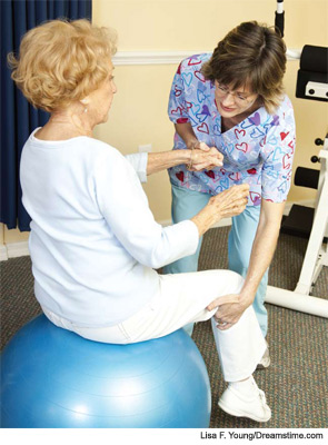 The correct exercises can assist in managing pain.