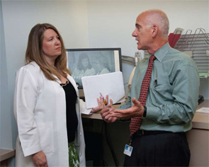Jeffrey Carlin, MD, and Nurse Practitioner Kori Dewing, DNP, ARNP