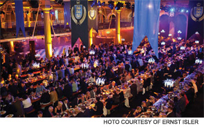 Old Billingsgate Market was transformed into the great hall of Hogwarts School of Witchcraft and Wizardry for the EULAR banquet.