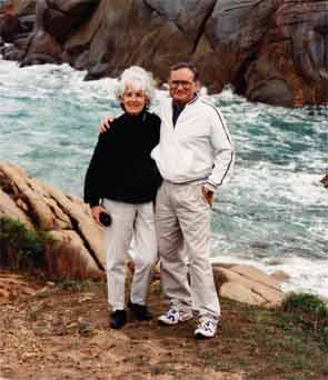 Dr. Reichlin and his wife, Marianne, on a visit to Australia.