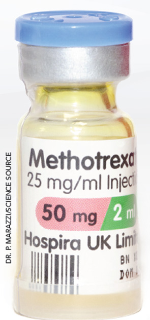 The optimal dose of MTX for most patients is between 18 mg and 25 mg per week.