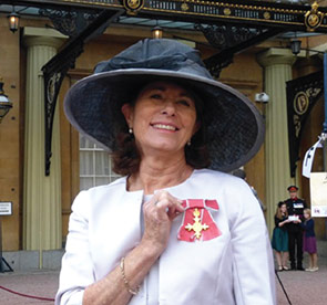 Sue Oliver, upon receiving the OBE.