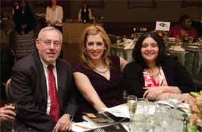 Dr. Hochberg, with Drs. Elizabeth Smelter and Bansari Gujar, at the 2013 Arthritis Foundation MidAtlantic Region dinner where Dr. Hochberg received the Arthur Modell Presidents Award.