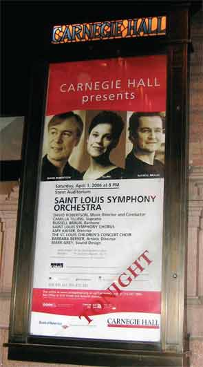 Dr. Deborah Parks performed with the St. Louis Symphony at Carnegie Hall in 2006 and again in 2013.