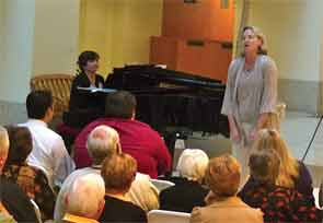 Dr. Parks performs for patients and visitors at the Siteman Cancer Center, Barnes Jewish Hospital, in St. Louis.