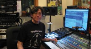 Dr. Jerry Goldberg in his studio.