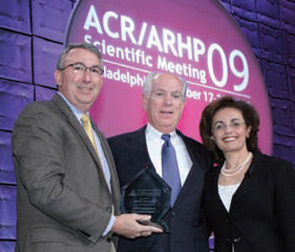 Pictured left to right are ACR President Stanley B. Cohen, MD; 2009 ACR Distinguished Clinical Investigator Award winner Allen C. Steere, MD;  and Immediate ACR Past President Sherine Gabriel, MD, MSc.
