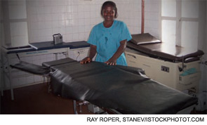 The operating room at Bo Government Hospital, where Dr. Maggi and his staff surgically repair obstetric fistulas.
